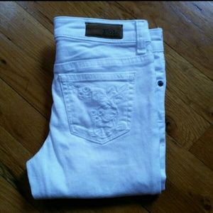 GIRLS RALPH LAUREN WHITE SKINNY JEANS